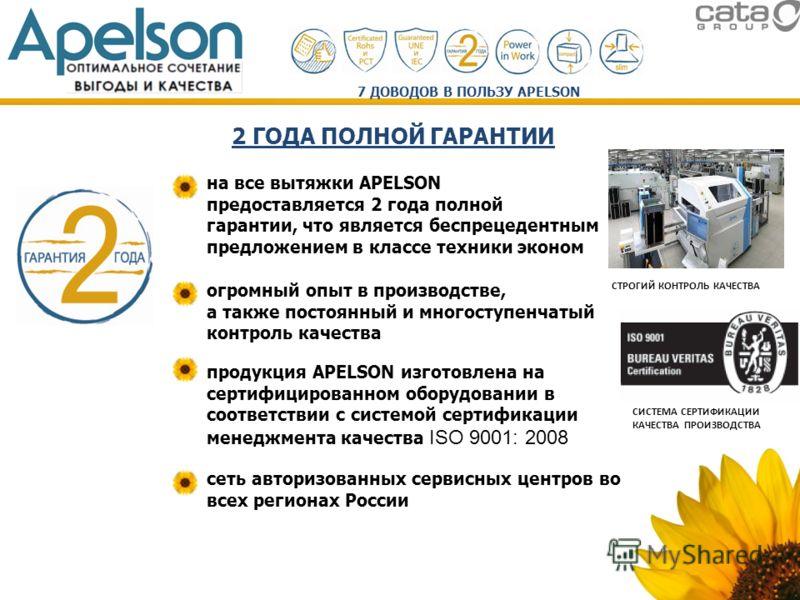 огромный опыт в производстве, а также постоянный и многоступенчатый контроль качества СТРОГИЙ КОНТРОЛЬ КАЧЕСТВА продукция APELSON изготовлена на сертифицированном оборудовании в соответствии с системой сертификации менеджмента качества ISO 9001: 2008