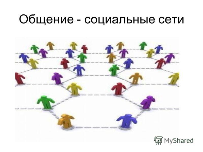 Общение - социальные сети