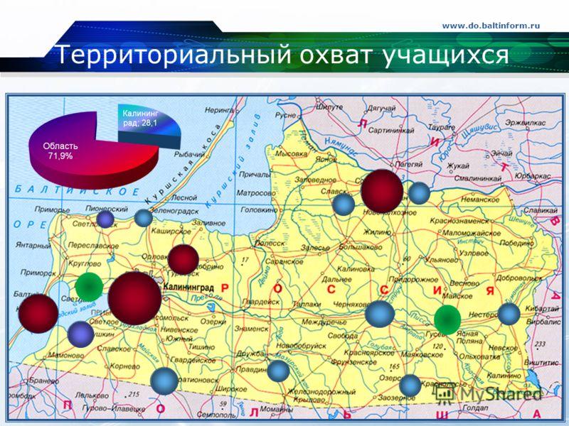 Территориальный охват учащихся www.do.baltinform.ru Company Logo