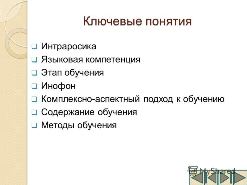 Презентация на тему Презентация магистерской диссертации  8 Ключевые понятия Интраросика