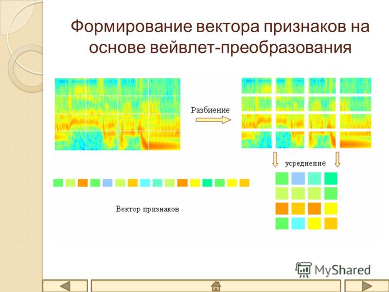 Формирование вектора признаков на основе вейвлет-преобразования