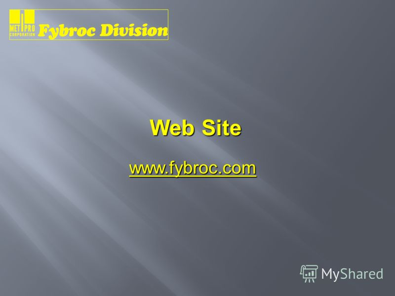 Web Site www.fybroc.com
