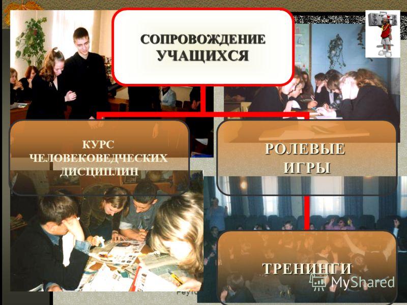 Реутов, Московская область19СОПРОВОЖДЕНИЕУЧАЩИХСЯ КУРС ЧЕЛОВЕКОВЕДЧЕСКИХ ДИСЦИПЛИНРОЛЕВЫЕИГРЫ ТРЕНИНГИ