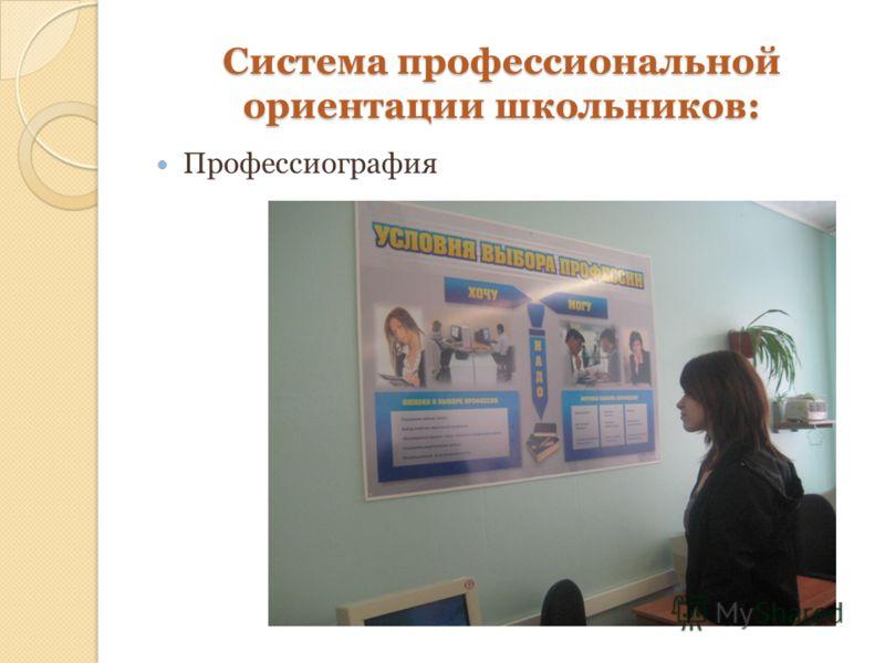 Система профессиональной ориентации школьников: Профессиография
