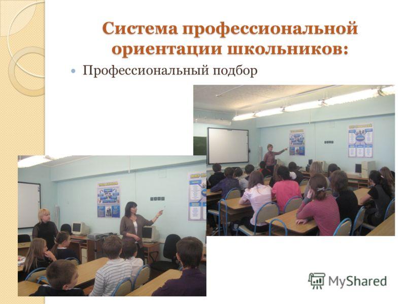 Система профессиональной ориентации школьников: Профессиональный подбор