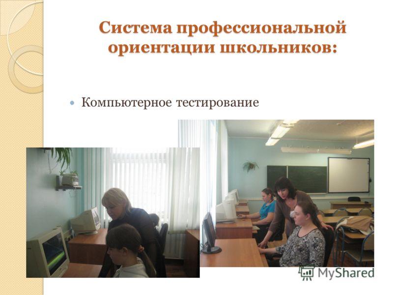 Система профессиональной ориентации школьников: Компьютерное тестирование