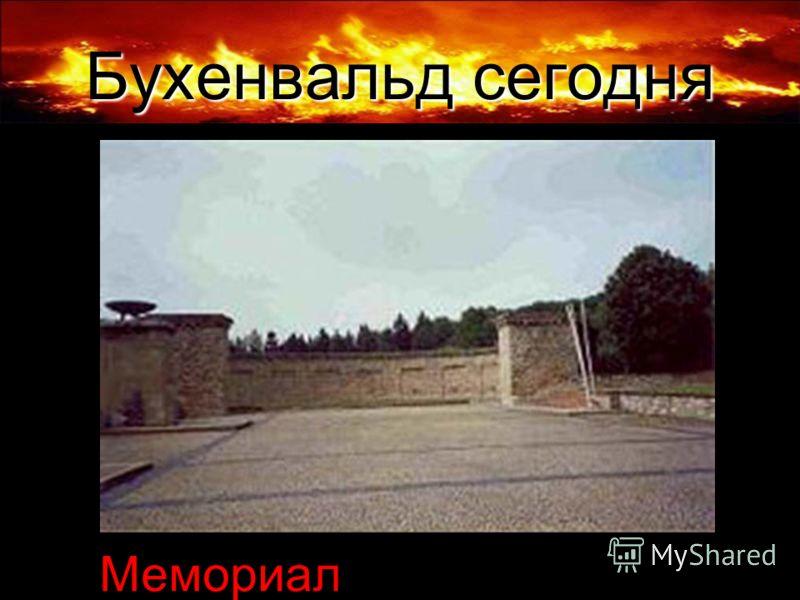 Бухенвальд сегодня Мемориал