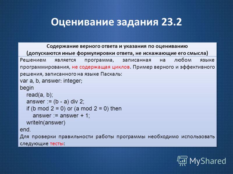 Оценивание задания 23.2