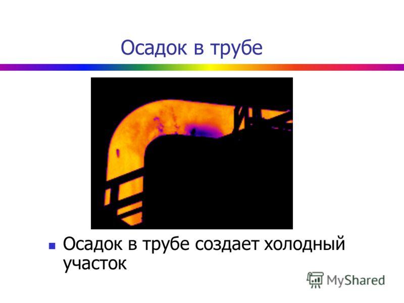 Осадок в трубе Осадок в трубе создает холодный участок