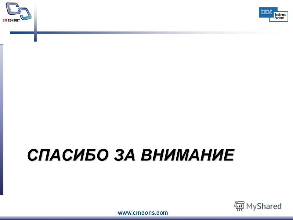 www.cmcons.com СПАСИБО ЗА ВНИМАНИЕ