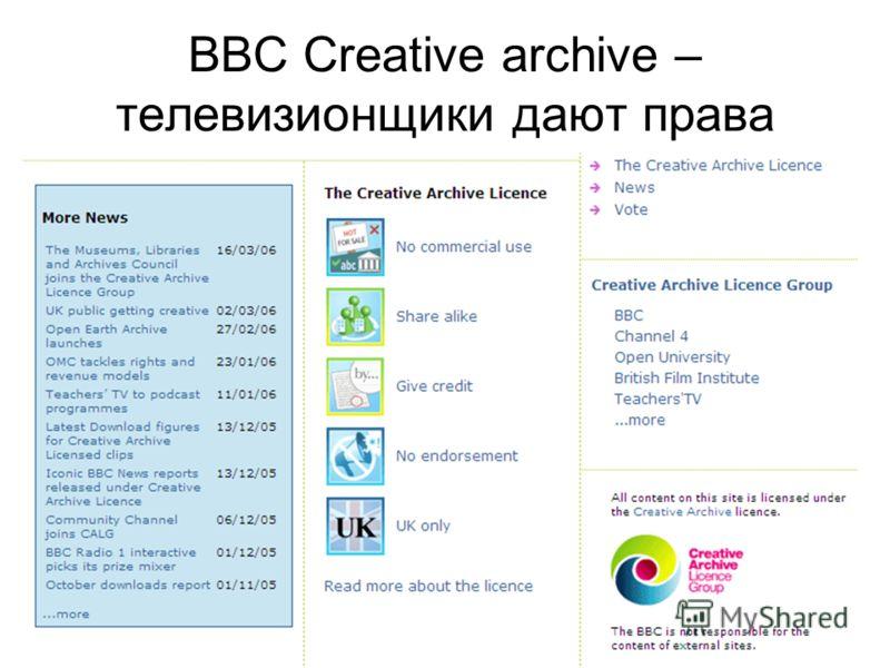РИФ-2006 Развлекательный видеоконтент в Интернете BBC Creative archive – телевизионщики дают права