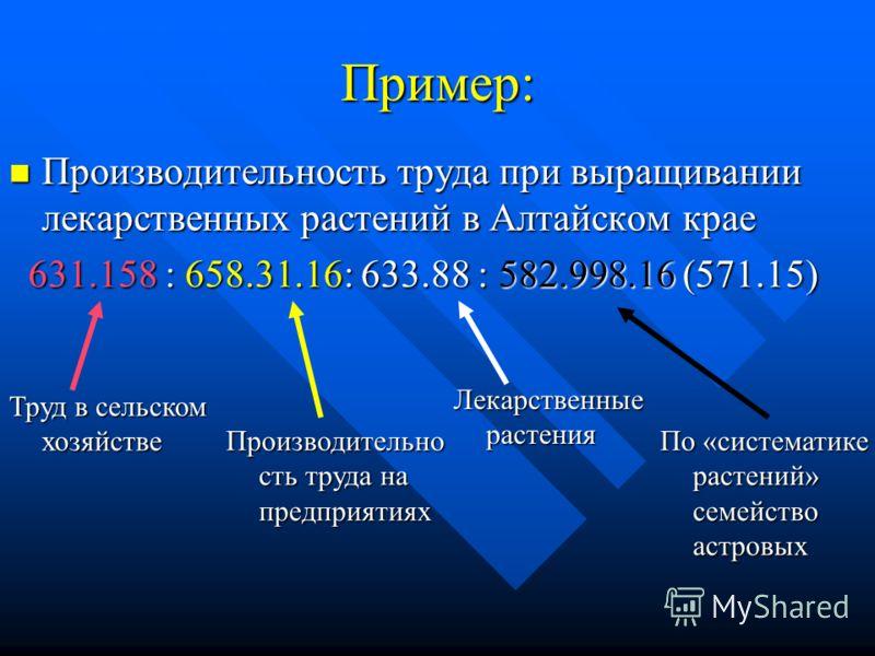 Производительность труда при выращивании лекарственных растений в Алтайском крае Производительность труда при выращивании лекарственных растений в Алтайском крае 631.158 : 658.31.16: 633.88 : 582.998.16 (571.15) 631.158 : 658.31.16: 633.88 : 582.998.