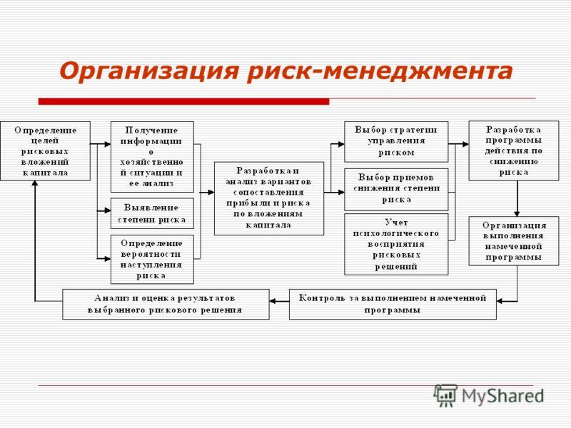 Организация риск-менеджмента