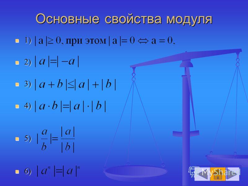 Основные свойства модуля 1) 1) 2) 2) 3) 3) 4) 4) 5) 5) 6) 6)