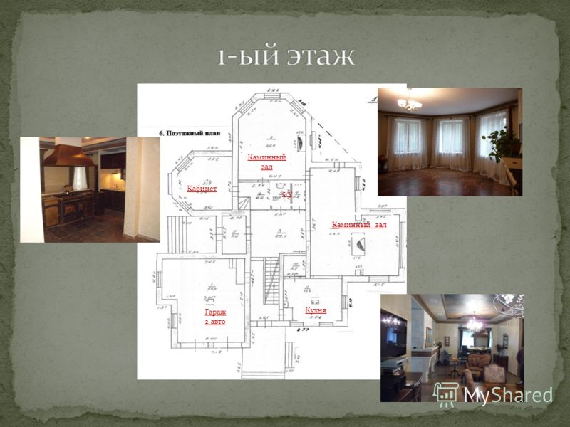 Каминный зал Кухня Гараж 2 авто с/у Кабинет