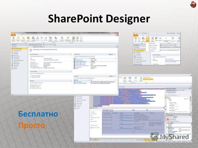 SharePoint Designer Бесплатно Просто
