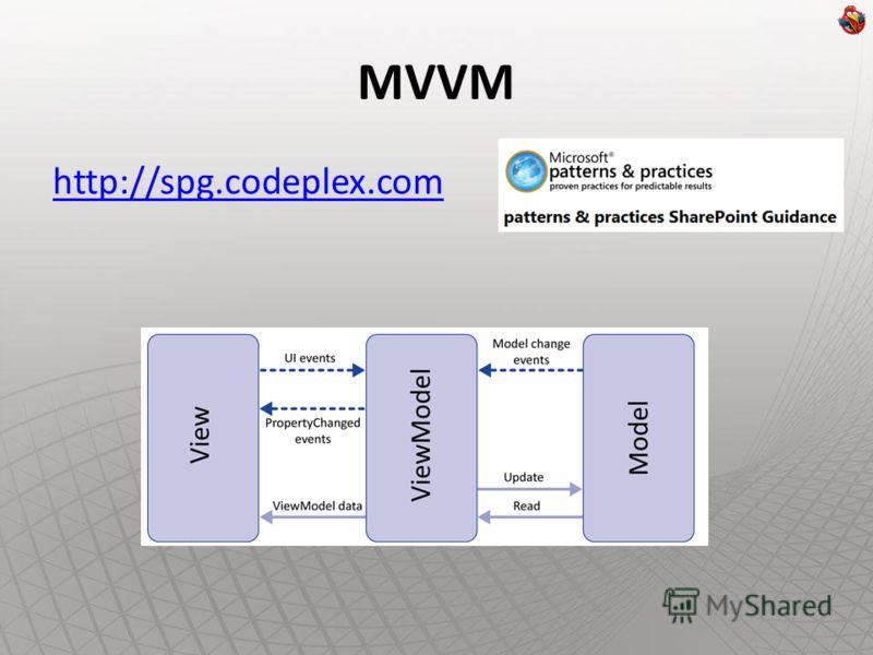 MVVM http://spg.codeplex.com
