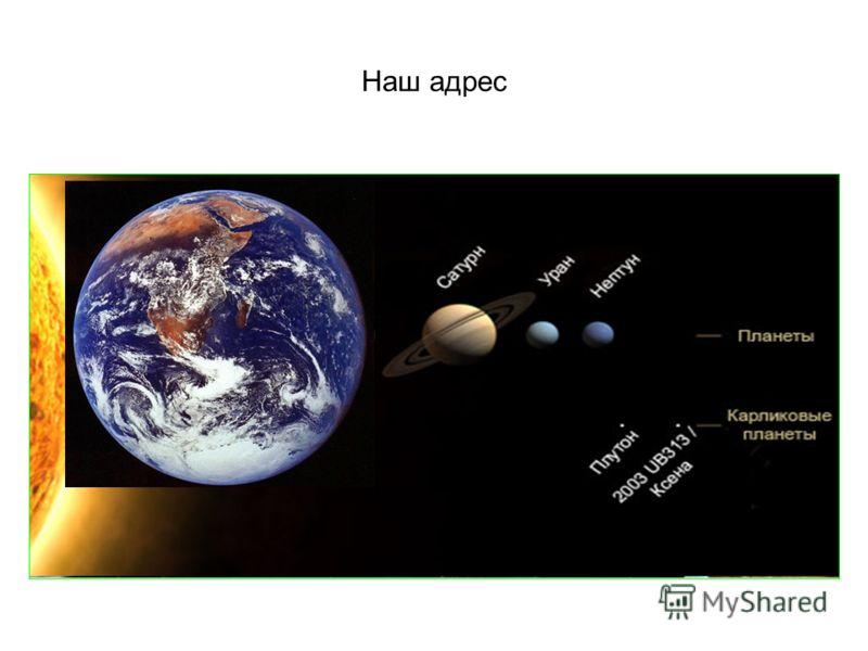 Наш адрес Планета Земля