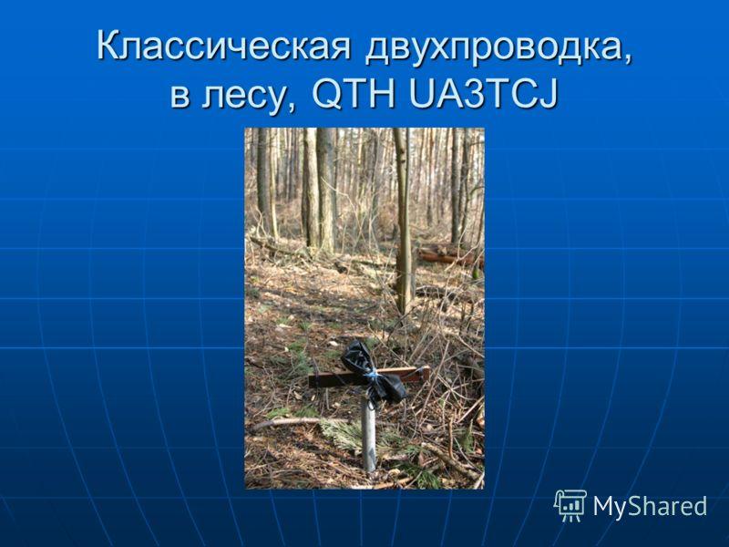 Классическая двухпроводка, в лесу, QTH UA3TCJ