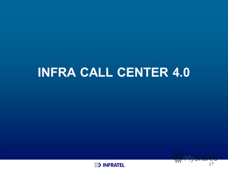 17 INFRA CALL CENTER 4.0