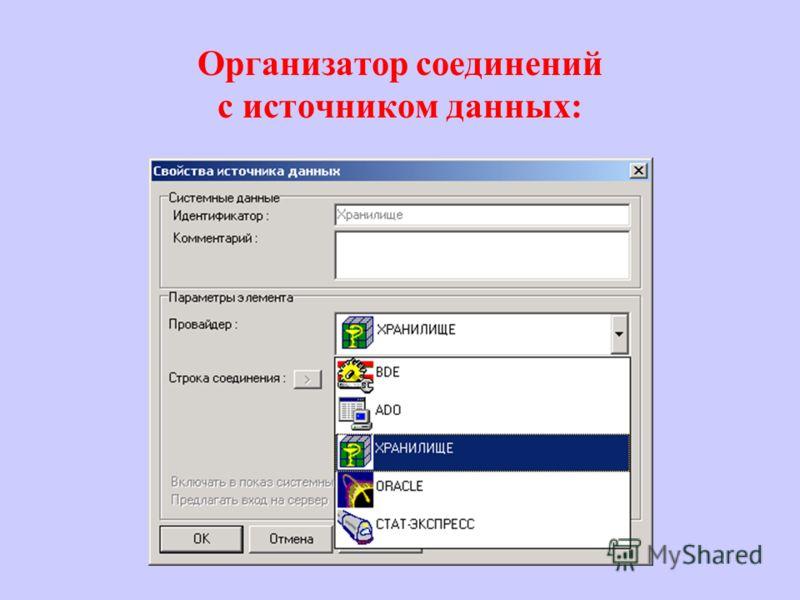 Организатор соединений с источником данных: