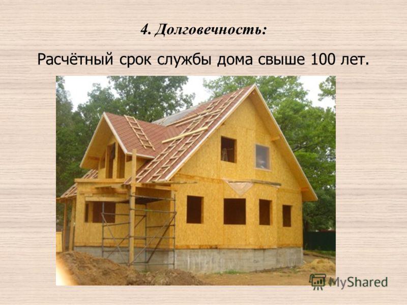 4. Долговечность: Расчётный срок службы дома свыше 100 лет.