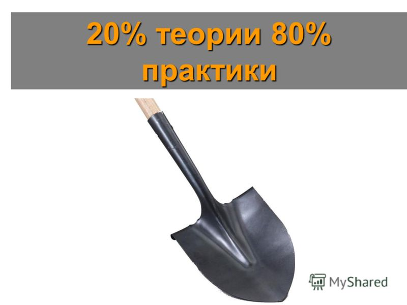 20% теории 80% практики