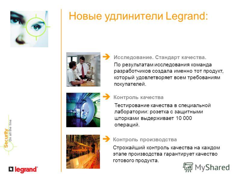 Новые удлинители Legrand: По результатам исследования команда разработчиков создала именно тот продукт, который удовлетворяет всем требованиям покупателей. Исследование. Стандарт качества. Тестирование качества в специальной лаборатории: розетка с за