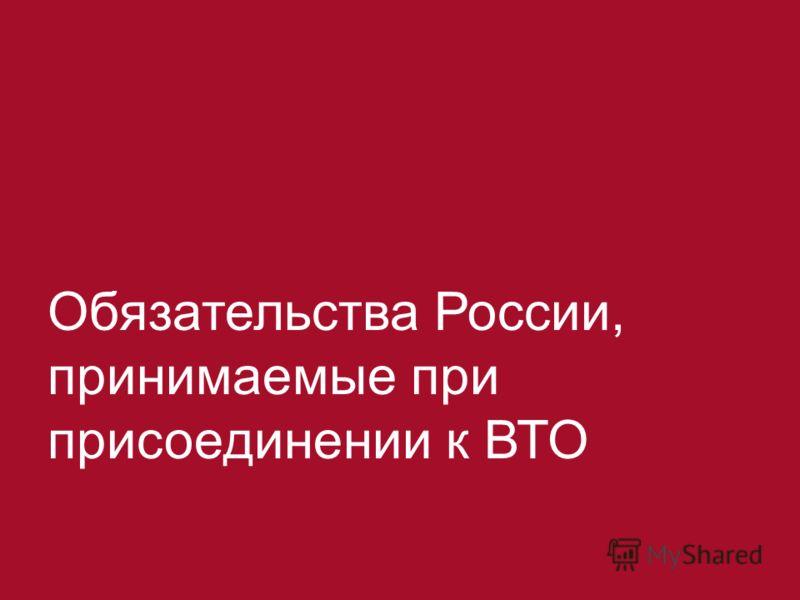 2 Обязательства России, принимаемые при присоединении к ВТО