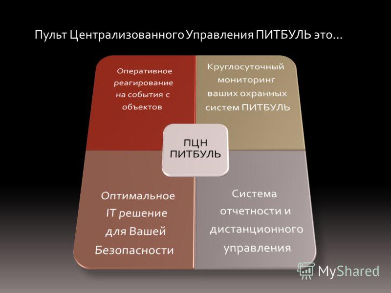 Пульт Централизованного Управления ПИТБУЛЬ это…