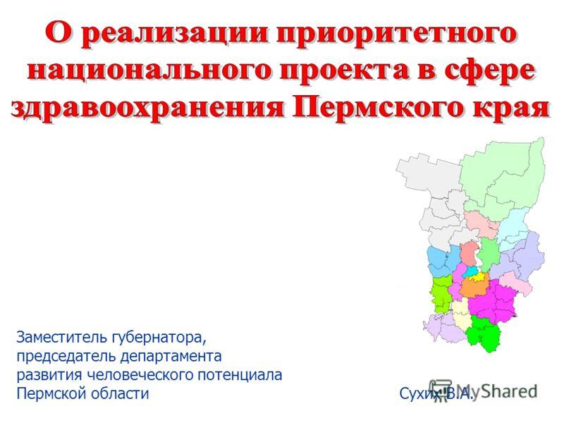 Заместитель губернатора, председатель департамента развития человеческого потенциала Пермской области Сухих В.А.