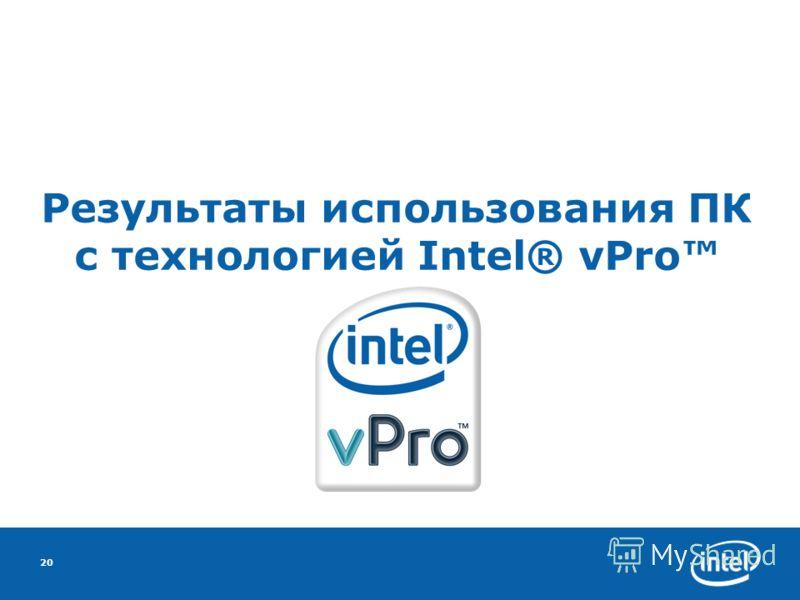 20 Результаты использования ПК с технологией Intel® vPro
