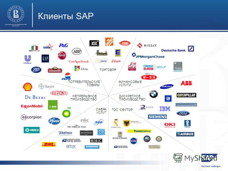Базовая кафедра Клиенты SAP