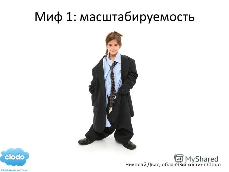 Миф 1: масштабируемость Николай Двас, облачный хостинг Clodo