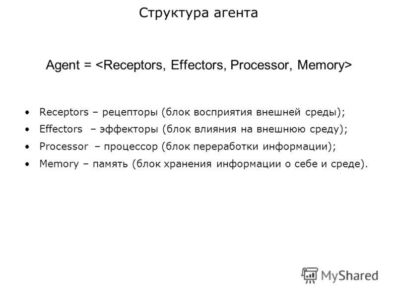 Презентация на тему Построении территориально распределенных  6 agent receptors