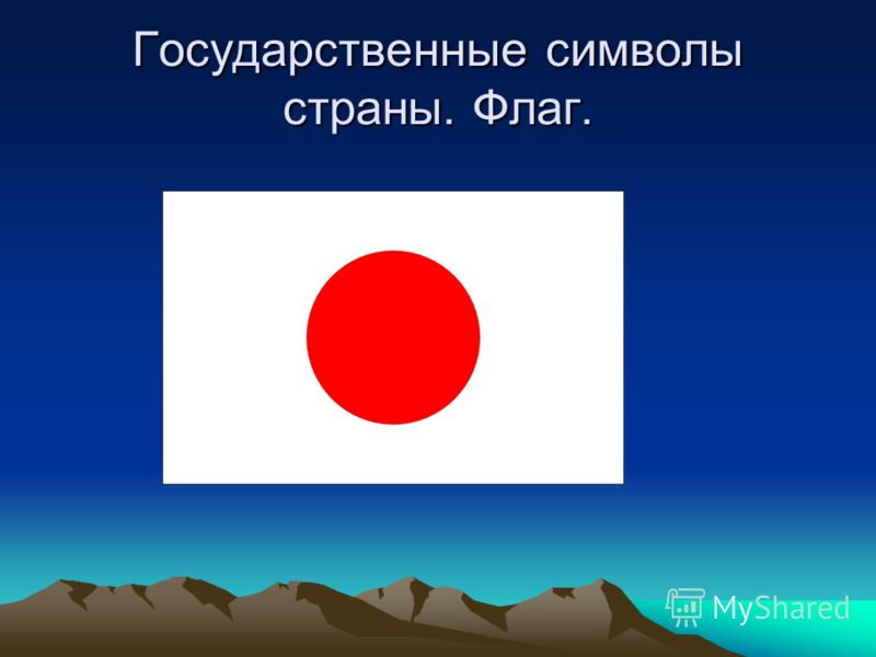 Государственные символы страны. Флаг.
