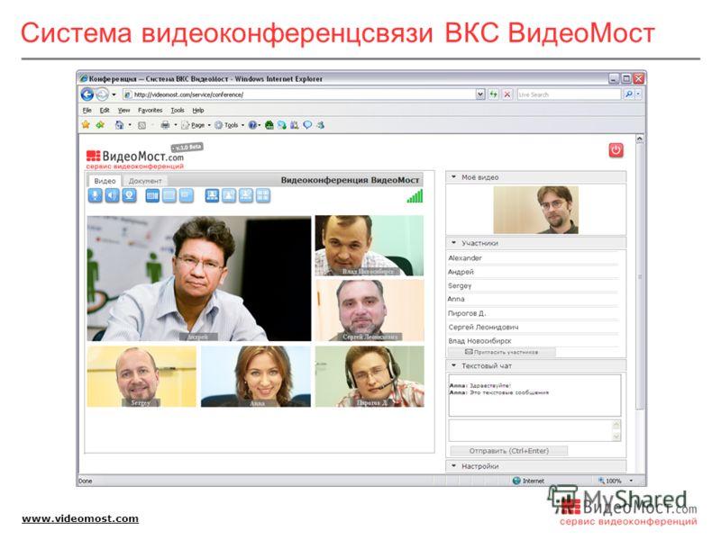 www.videomost.com Система видеоконференцсвязи ВКС ВидеоМост