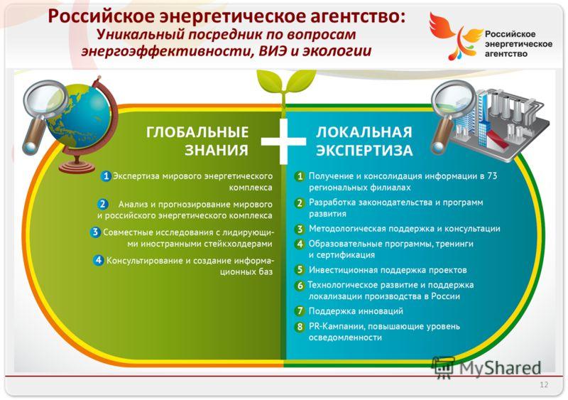 Российское энергетическое агентство: Уникальный посредник по вопросам энергоэффективности, ВИЭ и экологии 12