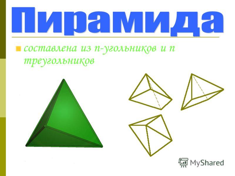 составлена из n-угольников и n треугольников