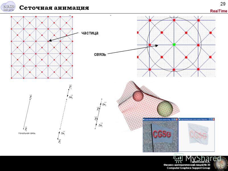 RealTime Галинский В.А. Физико-математический лицей 30 Computer Graphics Support Group 29 Сеточная анимация