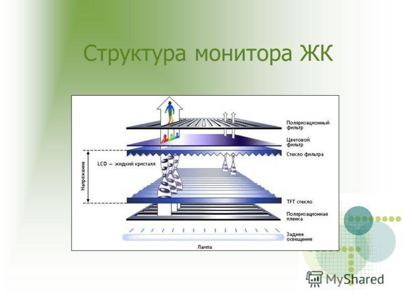Структура монитора ЖК
