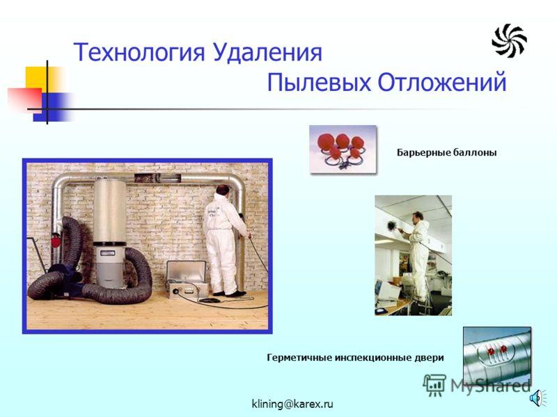 klining@karex.ru Нормативные Требования CНиП 2.04.05-91* ППБ 01-03* Правила эксплуатации теплопотребляющих установок и тепловых сетей потребителей СанПиН