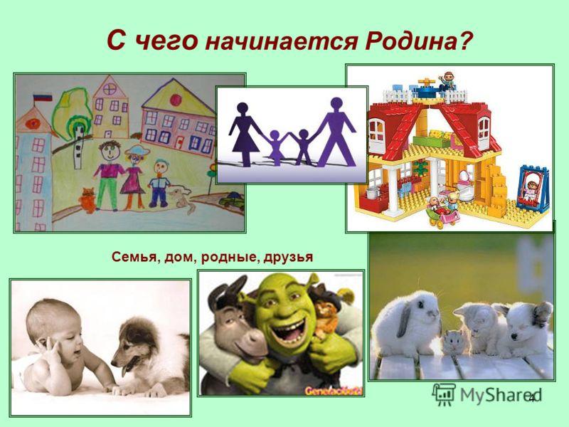 4 Семья, дом, родные, друзья С чего начинается Родина?