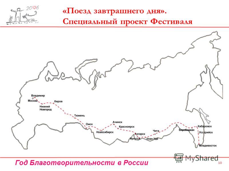 Год Благотворительности в России 10 «Поезд завтрашнего дня». Специальный проект Фестиваля