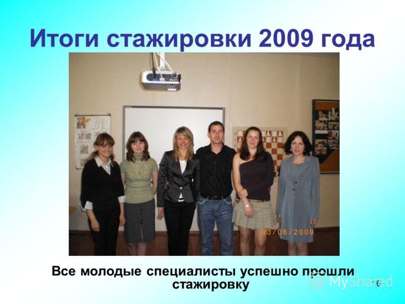 16 Итоги стажировки 2009 года Все молодые специалисты успешно прошли стажировку