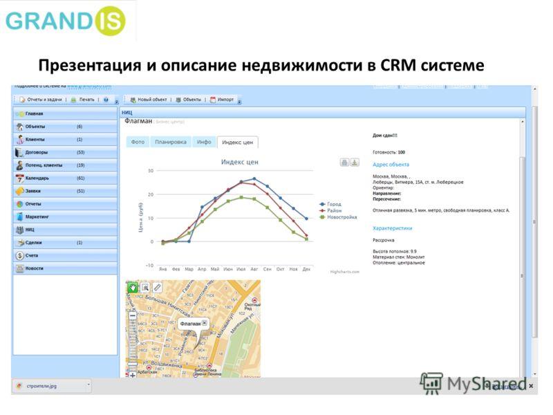 Презентация и описание недвижимости в CRM системе