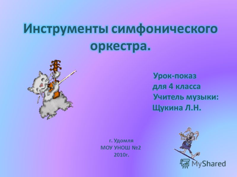 г. Удомля МОУ УНОШ 2 2010г.
