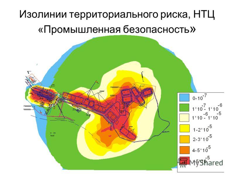 35 Изолинии территориального риска, НТЦ «Промышленная безопасность »