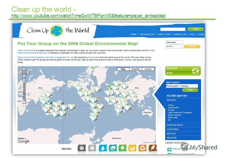 Google Confidential and Proprietary Clean up the world - http://www.youtube.com/watch?v=eGwWTBFqnW0&feature=player_embedded http://www.youtube.com/watch?v=eGwWTBFqnW0&feature=player_embedded