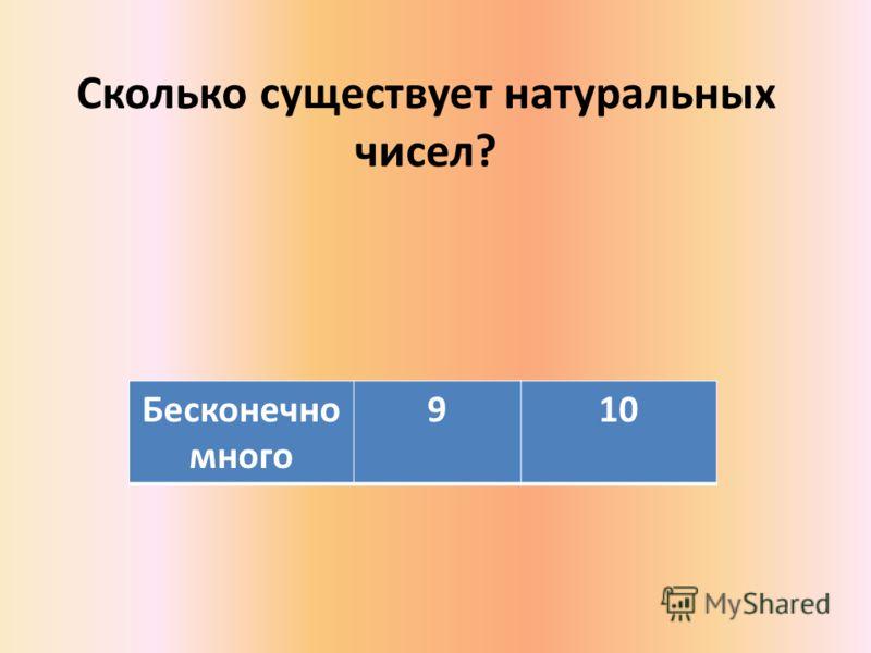 Сколько существует натуральных чисел? Бесконечно много 910